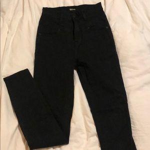 BDG hi rise black skinny jeans